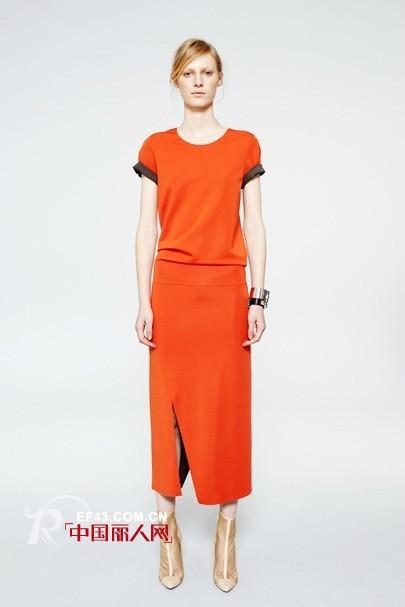 法舍尔2012秋冬装 温暖橘色给冬季一丝暖意