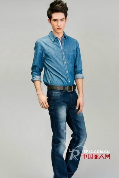 森马休闲牛仔衬衫 完美演绎经典丹宁