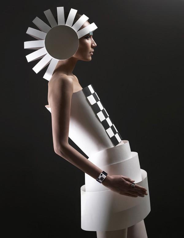 环保服装设计图片 纸服装秀