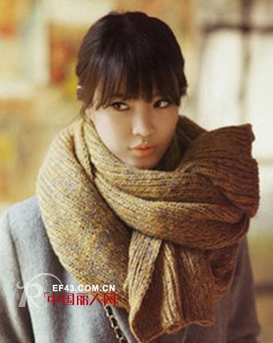 冬季防寒保暖围巾搭配 女士毛线围巾搭配