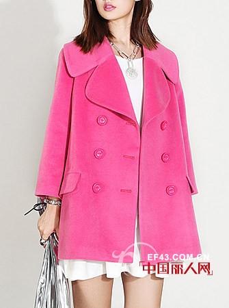 桃红色呢子外套搭配 桃红色配什么颜色好看