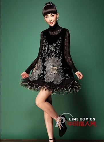 针织麻花加厚打底毛衣 蕾丝裙搭配