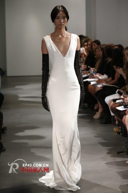 Vera Wang2014春季婚纱系列的发布会 演绎黑白风