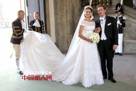 玛德莲 婚纱/瑞典公主玛德莲和纽约企业家欧尼尔的婚礼,于当地时间6月8日在...