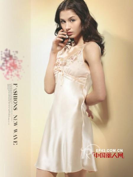 蚕美人高端丝绸睡衣  凸显女人性感妩媚的一面