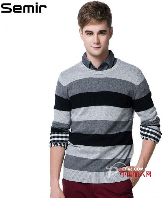 森马男士针织毛衣款式