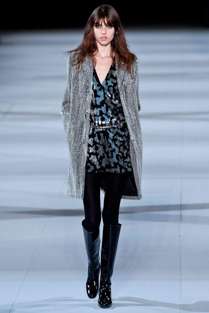 巴黎时装周Saint Laurent Fall 2014秋冬系列发布