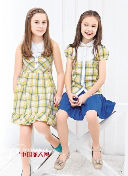 【格子装搭配】儿童格子装扮搭配 格子连衣裙搭配
