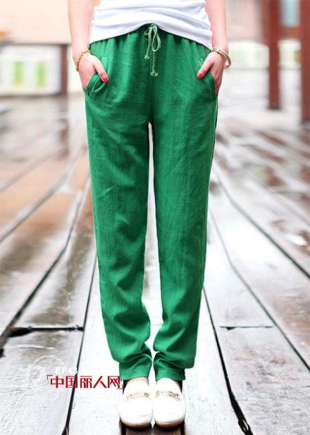 棉麻哈伦裤款式搭配 穿什么裤子最显瘦