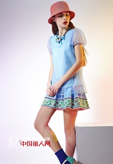 欧根纱夏季新款连衣裙 衣伴沁香夏季欧根纱裙