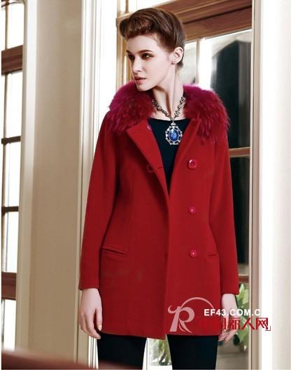 图案女装2014秋冬新款 红色诱惑袭来 红色呢子外套搭配
