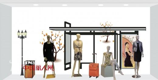 秋冬女装橱窗陈列设计效果图 秋冬新品上市橱窗应该怎么陈列图片