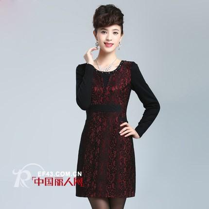 匠记品牌连衣裙推荐 三四十岁妈妈装秋季长袖裙搭配