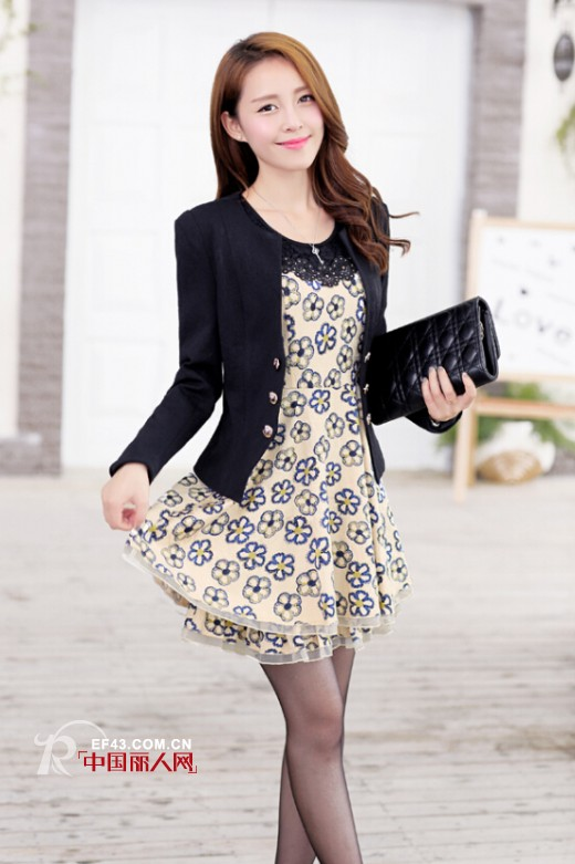 HYZ秋装新款套装系列  连衣裙+外套穿出优雅美