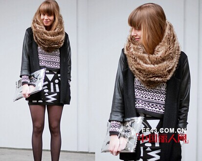 冬天围巾怎么搭配更时尚好看?   围巾搭配的技巧