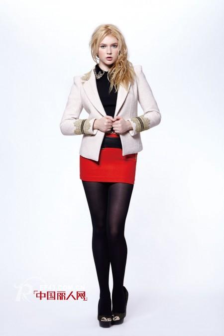 短款小西装搭配 豹纹小西装配短裙