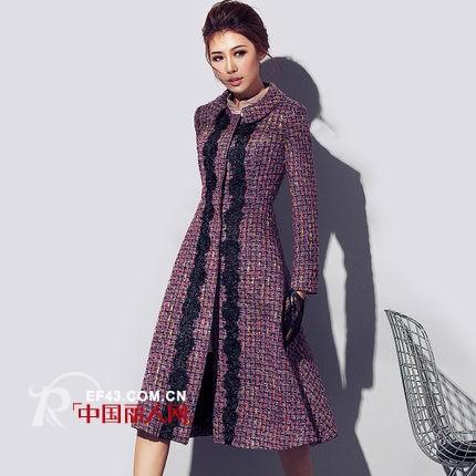 粗花呢大衣流行款式 粗花呢羊绒大衣搭配