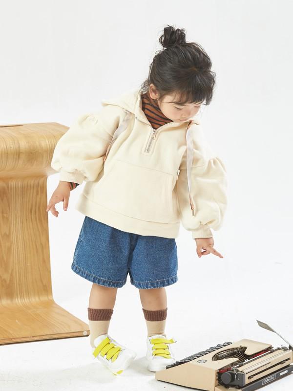 可愛小女孩衛衣穿搭 Mr.Branca日系風女童衛衣搭配