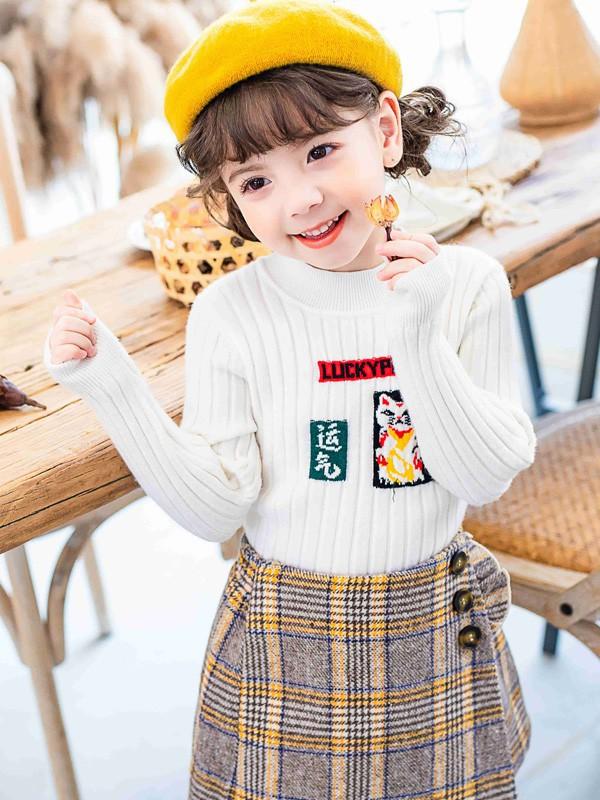 海马毛毛衣怎么穿好看 女童毛衣如何搭配