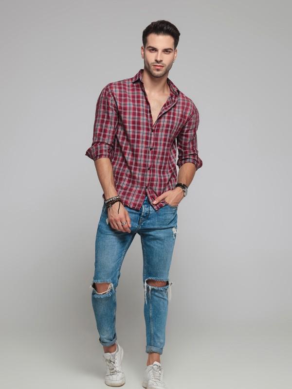 男生穿什么衬衫好看 零码成衣男款衬衫