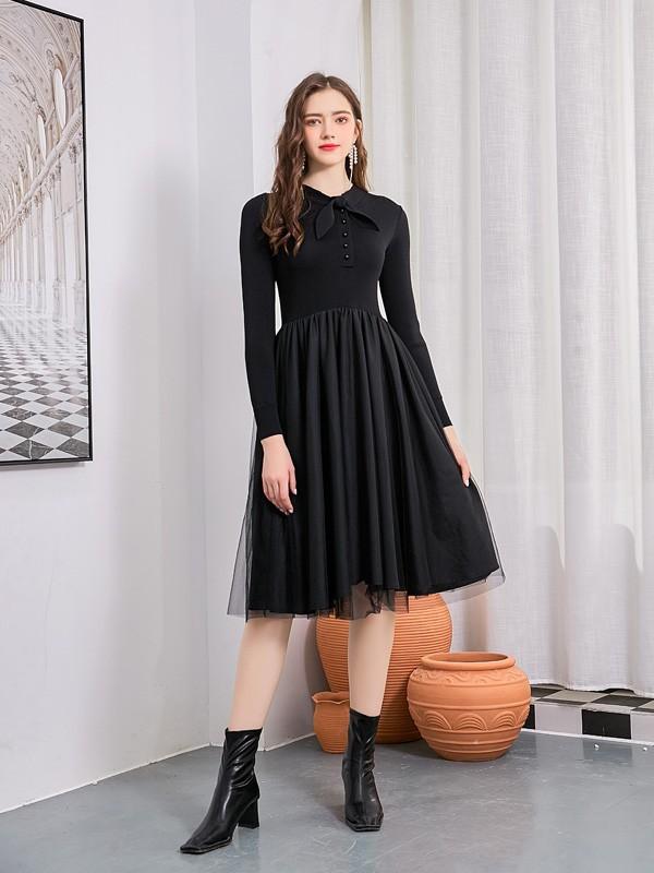 让你的秋天更多彩  这件连衣裙你一定要拥有