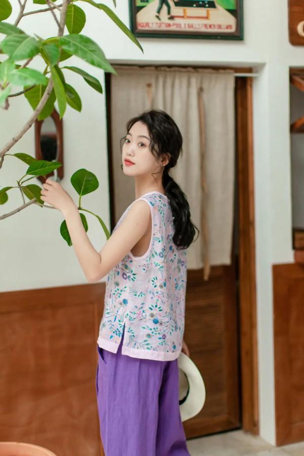 DOLAN都兰女装2020春夏新品之中国紫
