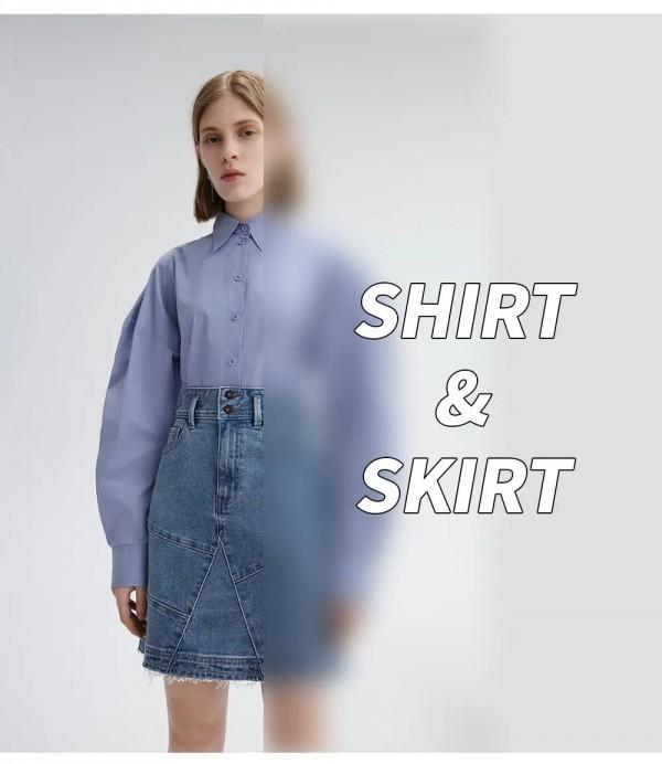 衬衫配半身裙好看吗 lily女装告诉您这对CP最靠谱
