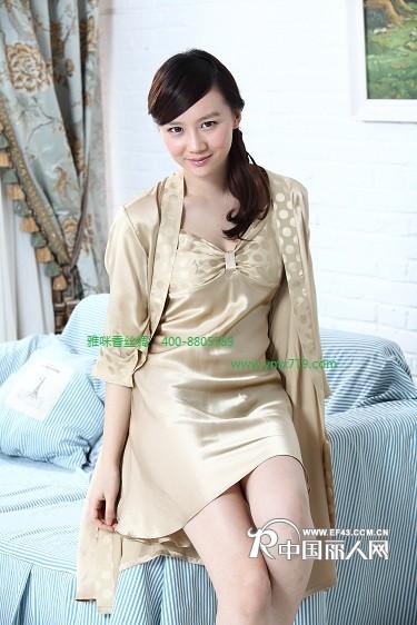 让每一个文明的中国人都穿上雅咪香丝绸睡衣睡觉