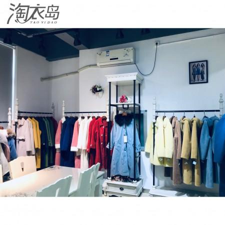 淘衣岛女装扣头店加盟 0库存 收费铺货 跟曼天雨一样的女装
