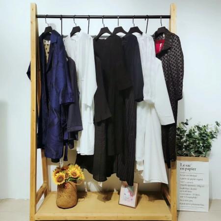 2020春棉麻系列大码女装尾货 实体店专柜优质货源
