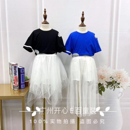 广州知名品牌童装爱心果夏装 品牌童装折扣货源走份批发