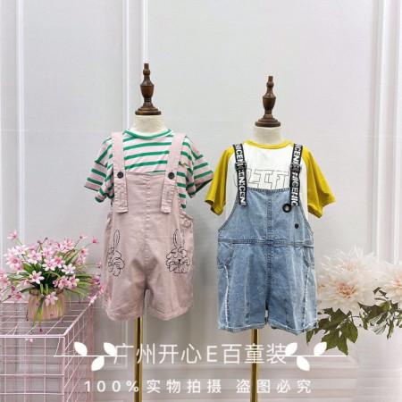 广州知名品牌童装洛小米夏装  品牌童装折扣货源走份批发