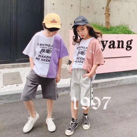 知名网红品牌童装1997-炒饭夏装上新 品牌童装折扣货源走份