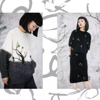 美国设计师品牌【王紫珊MICartsy】纯手工刺绣钉珠精致女