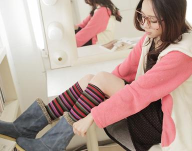 长筒袜美少女; 连裤长筒袜美女图片;