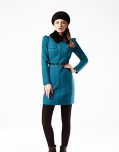 长款尼大衣外套 女性冬季必备款型