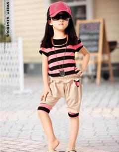 儿童套装时尚搭配达人示范