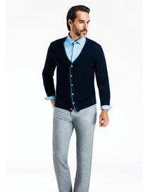 襯衫男裝搭配-針織衫