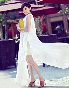 达人示范:连衣裙长裙搭配